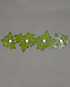 appendiabiti da parete modello edera colore verde arti e mestieri