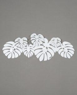 appendiabiti da parete modello monstera colore bianco arti e mestieri