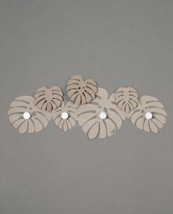 appendiabiti da parete modello montera colore beige arti e mestieri