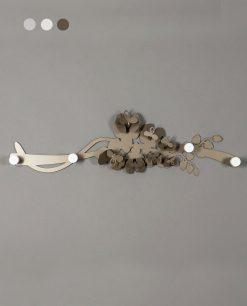 appendiabiti da parete modello orchidea colore bronzo arti e mestieri