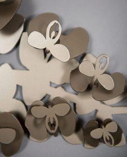 appendiabiti da parete modello orchidea colore bronzo foto particolare arti e mestieri
