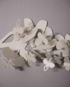 appendiabiti da parete modello orchidea colore sabbia grigio foto particolare arti e mestieri