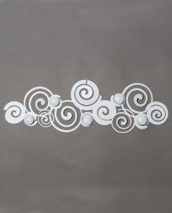appendiabiti da parete particolare modello orfeo colore bianco arti e mestieri