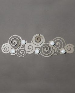 appendiabiti da parete particolare modello orfeo colore sabbia arti e mestieri