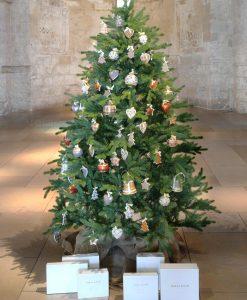appendini per albero di natale porcellana decorata baci milano merry christmas