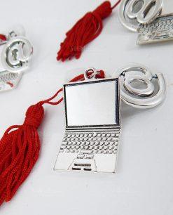 appendino computer e chiocciola con nappina rossa 1