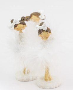 bambolina piccola con tutù bianco e fiocco 3 modelli