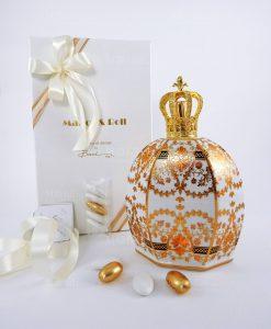 bomboniera bottiglia catalitica elizabeth 550 ml baci milano royal family queen