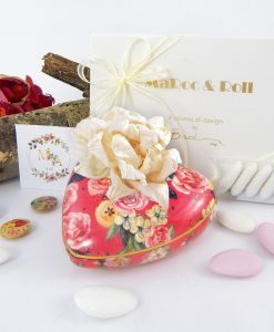 bomboniera profumatore cuore garden pink 300 ml baci milano i love