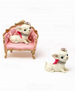 cagnolino chihuahua con poltroncina e senza linea les petits royal ad emozioni 1