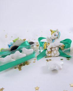 calamita unicorno azzurro su tubicino