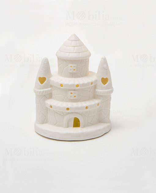 castello piccolo led porcellana bianco linea princess ad emozioni 1
