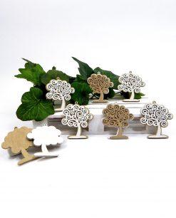 ciondolo albero della vita legno bianco e marrone