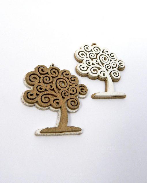 ciondolo albero della vita legno due colori