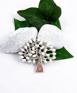 ciondolo albero della vita metallo con strass