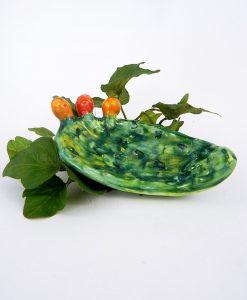 ciotolina pala fico dindia ceramica artigianale siciliana