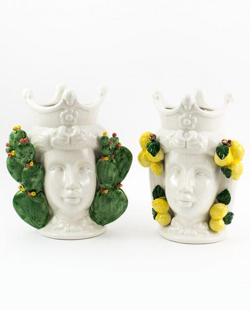 coppia teste di moro ceramica linea i mori ad emozioni