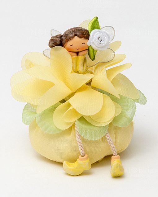 fatina linea trilly con fiore con sacchetto colore giallo ad emozioni 1
