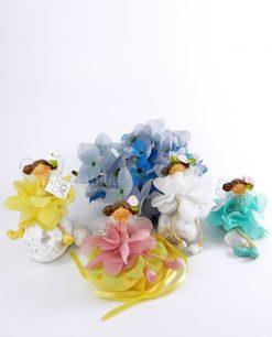 fatine fiore assortie 4 colori giallo rosa tiffany giallo con sacchetto giallo ad emozioni linea trilli