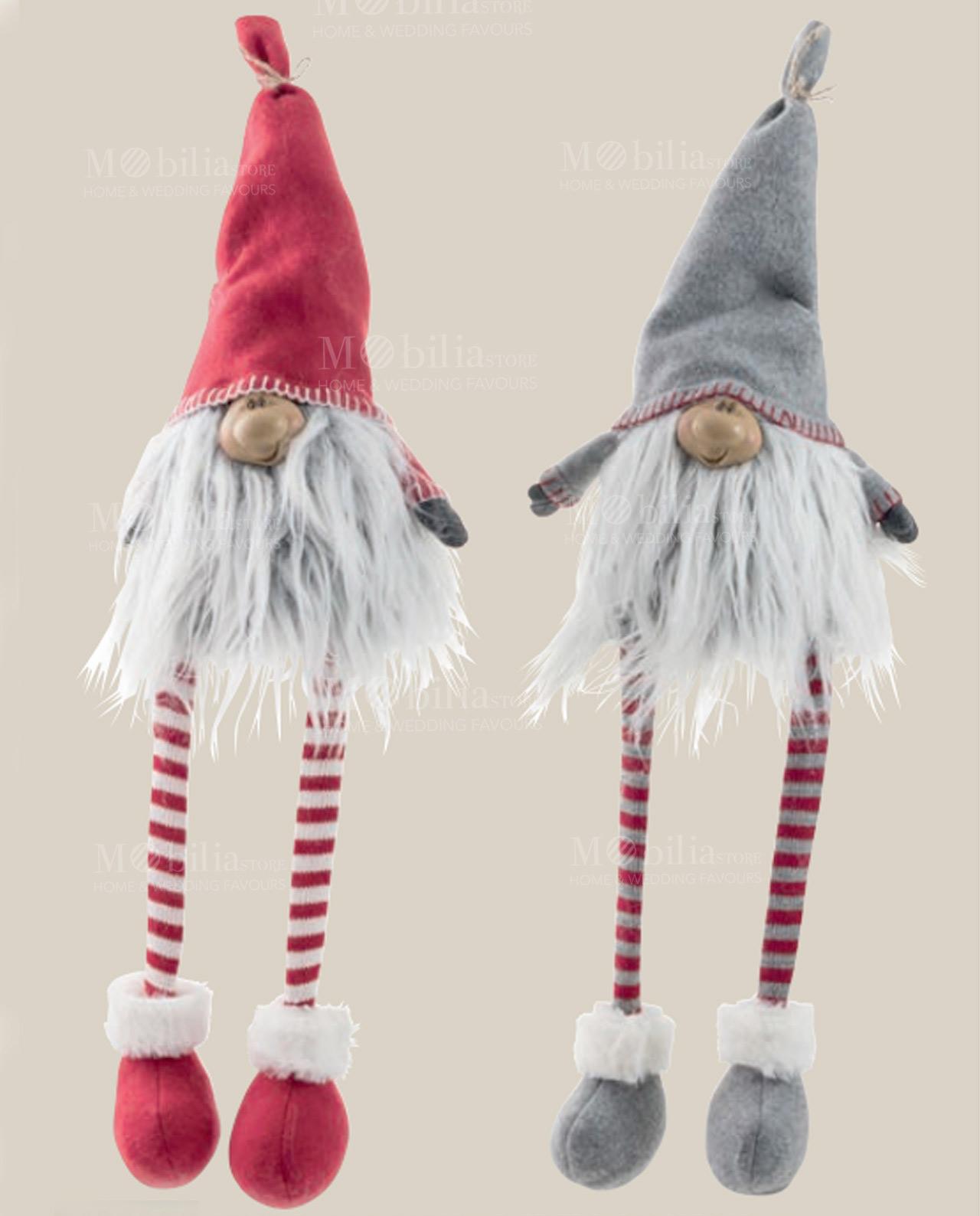 Gnomo cappello feltro e gambe lunghe righe rosse - Mobilia Store ... a8a1d8845c7a