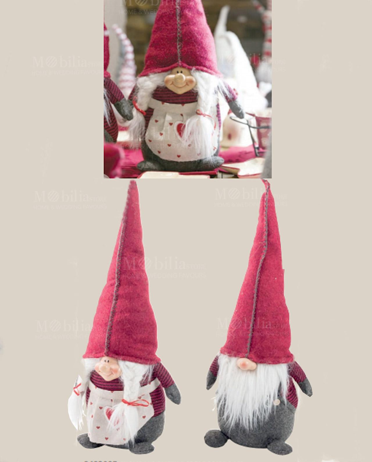 Pupazzo gnomo maschio e femmina con cappello feltro rosso - Mobilia ... 53545435c197