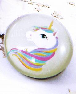 magnete con figura unicorno viola