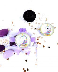 magnete rotondo di vetro con unicorno 1