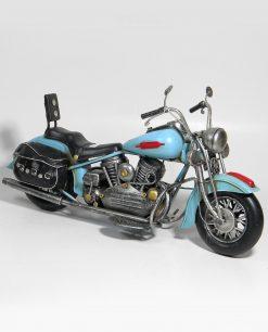 moto harley azzurra da collezione