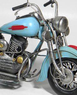 moto harley azzurra da collezione dettaglio