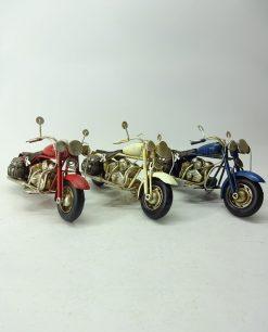 moto harley tre colori rossa blu e bianca da collezione