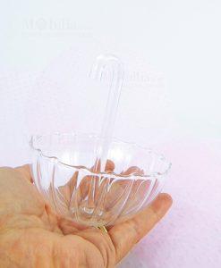 ombrellino vetro trasparente su mano linea ombrellini ad emozioni
