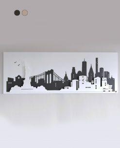 pannello decorativo modello new york colore beige e nocciola arti e mestieri