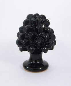 pigna ceramina nera artigianale siciliana