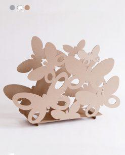 porta riviste modello butterfly colore beige arti e mestieri