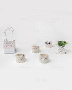 portacandele con animaletti porcellana assortiti ad emozioni 1