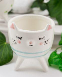 portapiante animaletto gattino porcellana linea nature ad emozioni