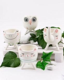 portapintine porcellana animaletti soggetti assortiti linea nature ad emozioni