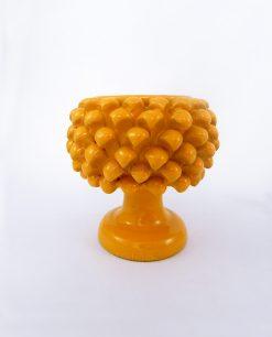 portavaso pigna ceramica gialla piccola