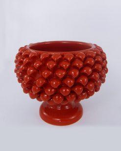portavaso pigna ceramica rossa media