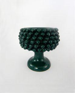 portavaso pigna ceramica verde piccola