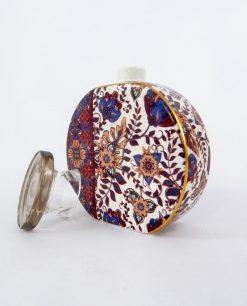 profumatore bottiglia rotonda porcellana decoro camilla baci milano maroc e roll
