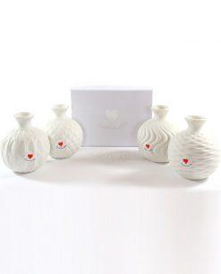 profumatore ceramica bianca decorata a rilievo simplywhite cuorematto grande