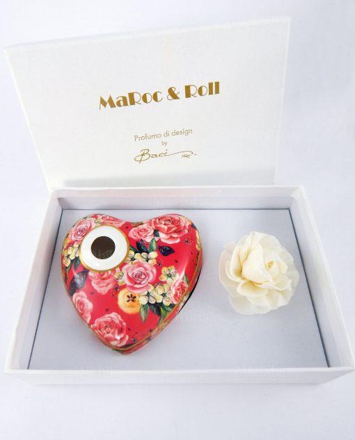profumatore per ambiente cuore porcellana garden pink baci milano collezione i love
