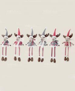 pupazzo renna gambe lunghe e cappello 1