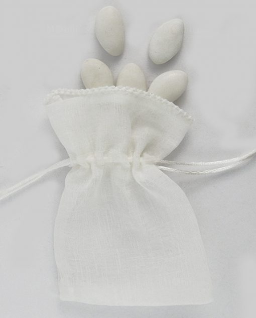 sacchettino a bustina portaconfetti bianco