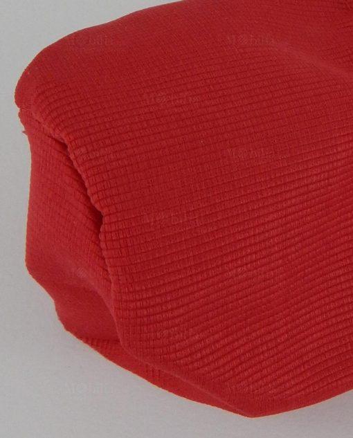 sacchettino cotone rosso a pouf