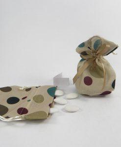 sacchettino per confetti con tirante in juta