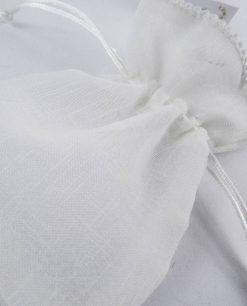 sacchettino portaconfetti bianco con tirante