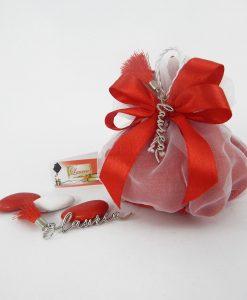 sacchettino portaconfetti con ciondolo e nappina 1