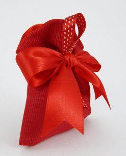 sacchetto a bustina rosso con nastrino